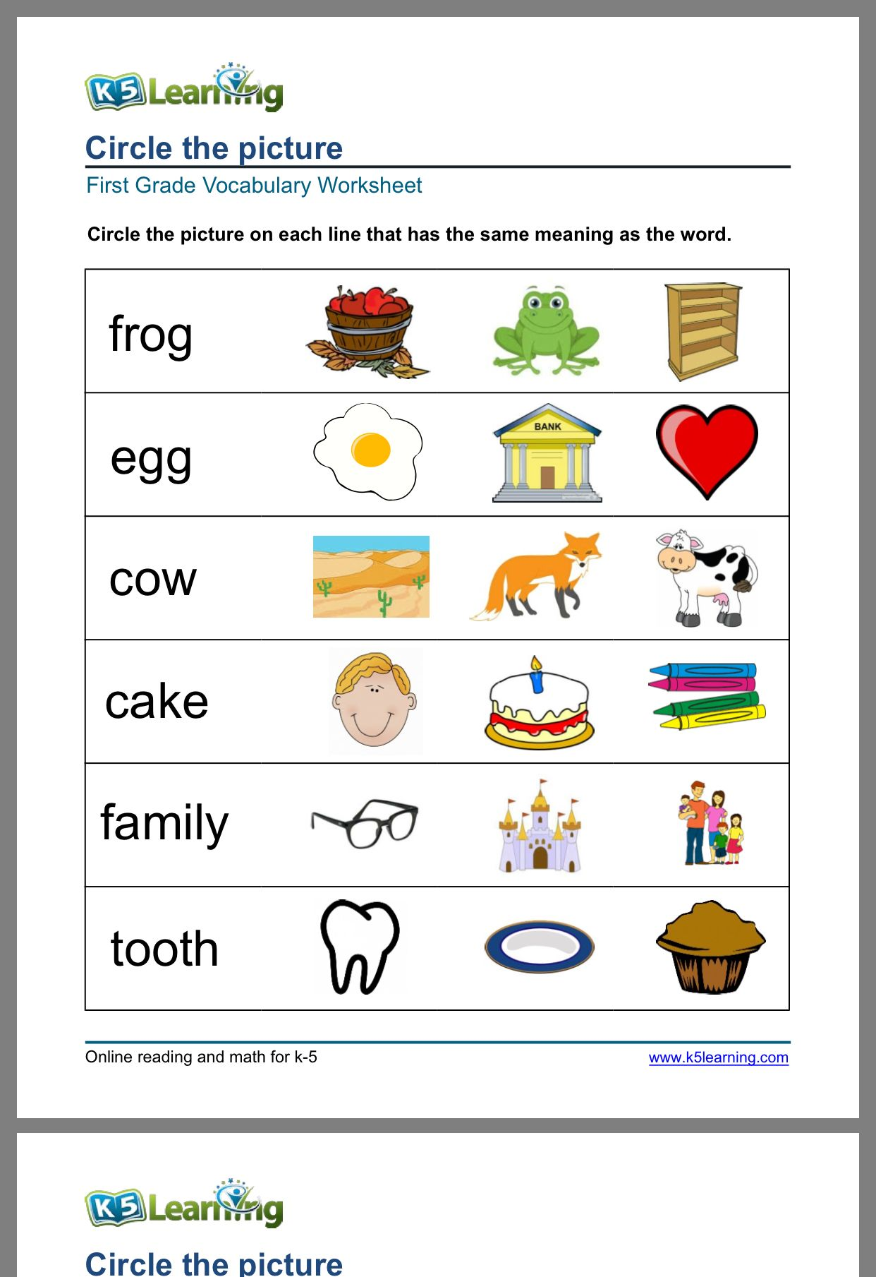 Pin By Zoe Ting On Calendar For Kids Kids Calendar Word Pictures Vocabulary Worksheets