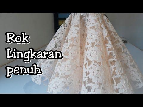 Cara Membuat Rok wedding dress Rok Lingkaran YouTube