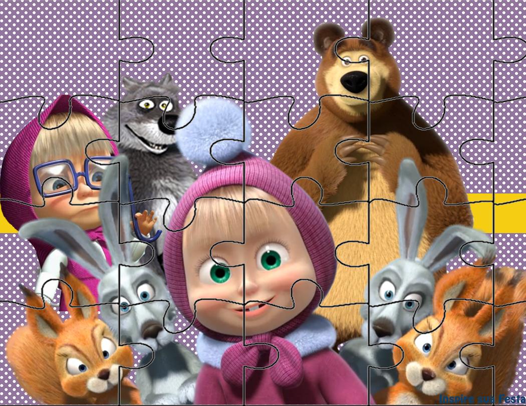 Masha E O Urso Personalizados Gratuitos Inspire Sua Festa Masha E O Urso Decoracao Masha E Urso Festa Masha E O Urso