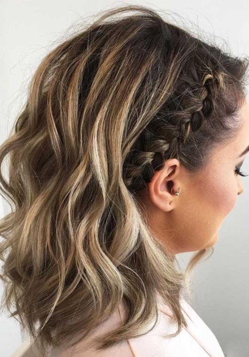 Most Beautiful Medium Braided Hairstyles 2018 For Women Cute Hairstyles Hair Styles Braids For Short Hair Short Hair Styles