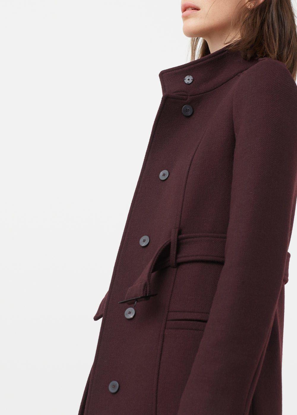 lana womenCoat MujerWool Abrigo cinturón coatCoats for nkOPX0N8w