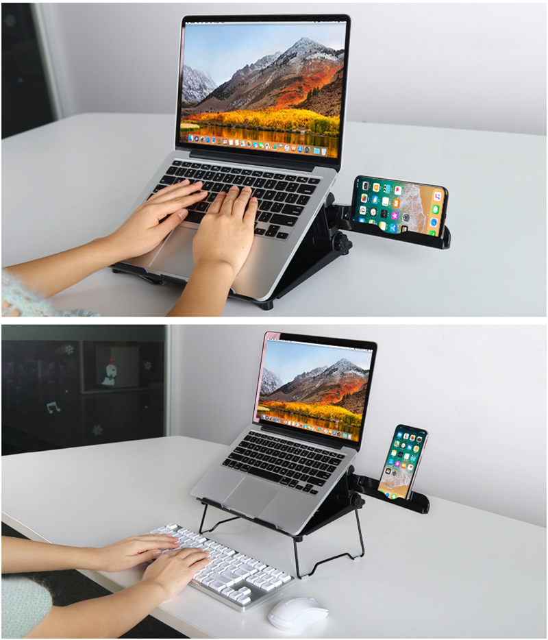 Laptop lift Stand Notebook Cooling Pad Adjustable Height