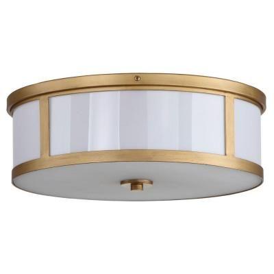 Safavieh Avery Ceiling Drum 2 Light Antique Gold Flush Mount Lit4195a Flush Lighting Drum Light Flush Mount Ceiling Lights