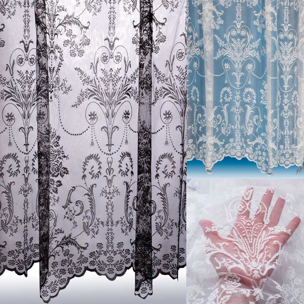 Victoria Lace Curtain Boutique Damask Design Sold By The Metre