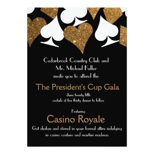 Your Custom 5 x 7 Invitations Casino Royale Gala Pinterest