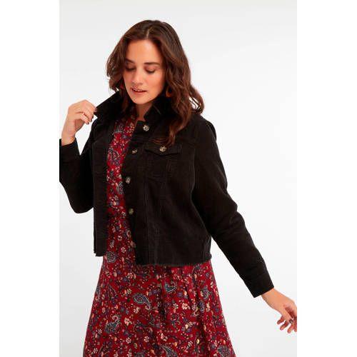 MS Mode corduroy jasje zwart Korte jasjes, Jasjes en Outfits