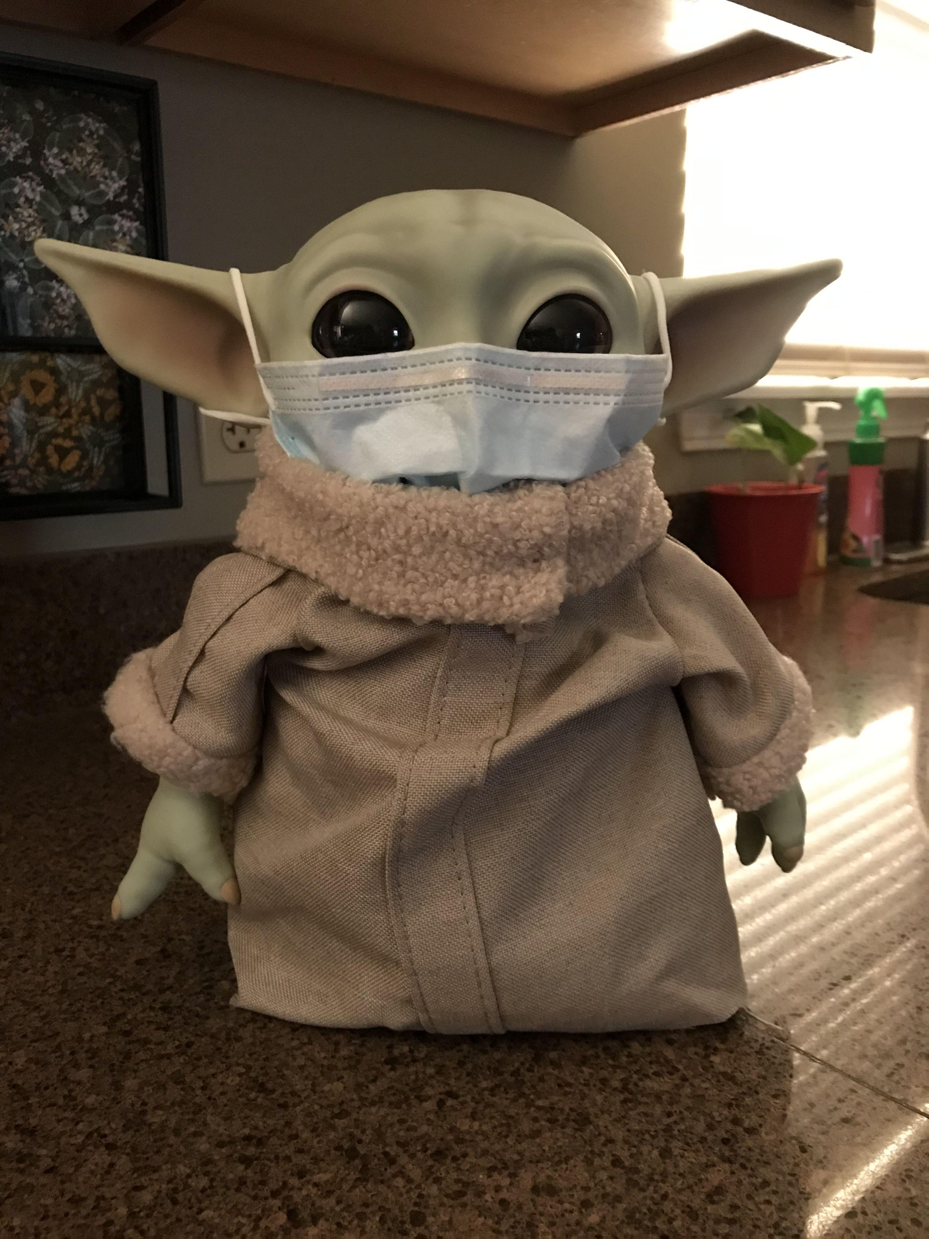 Baby Yoda Getting Ready To Go To The Store Rona Ain T Going To Get Him Yoda Wallpaper Yoda Meme Yoda Images
