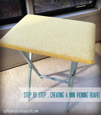 How To Create A Mini Ironing Board A Tutorial Mini Ironing Board Ironing Board Sewing Rooms