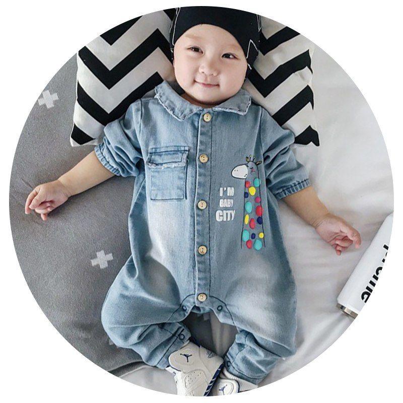 8be6d70829 3 estilos de Denim Bebé mameluco Graffiti ropa de bebé mono recién nacido  bebés niño niñas