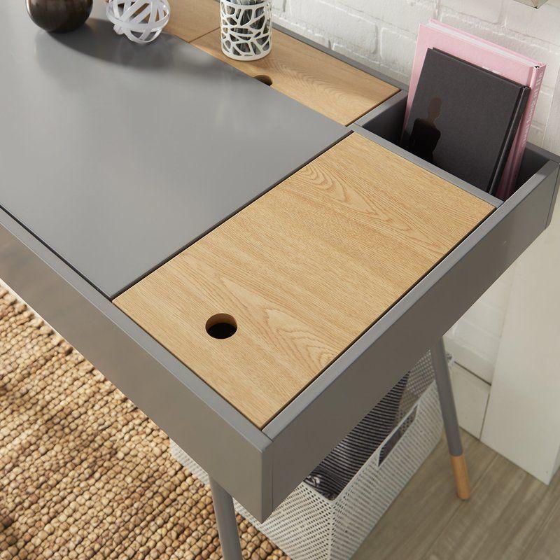 Chiesa Solid Wood Writing Desk Reviews Allmodern Wood