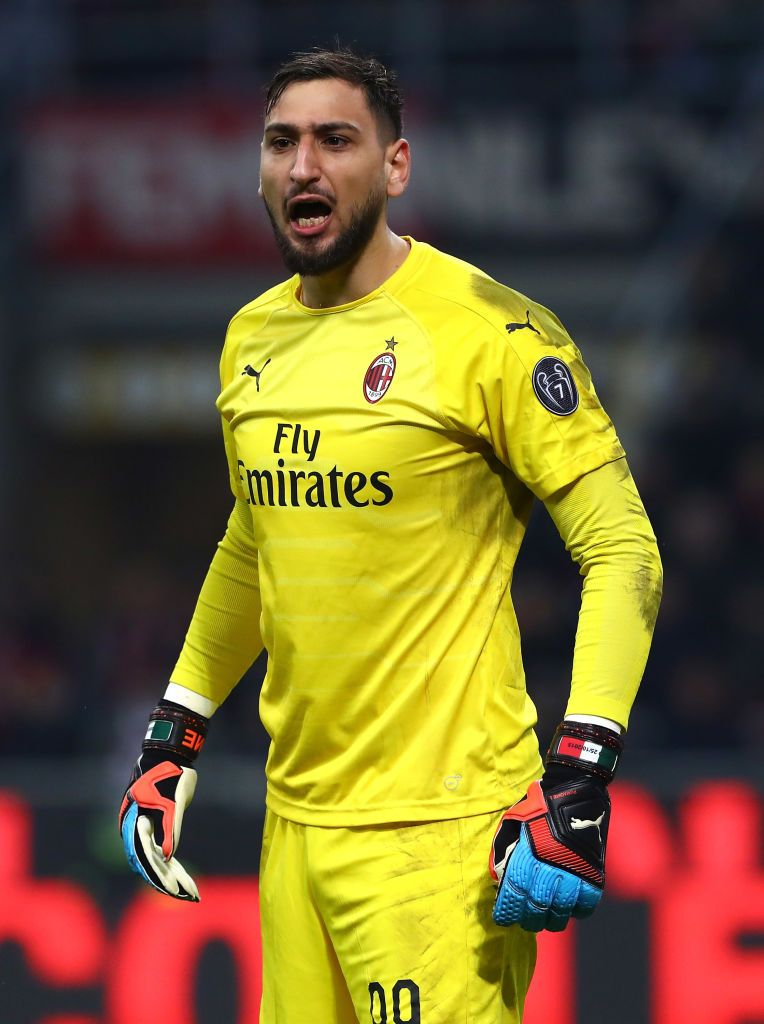 Milan Italy January 29 Gianluigi Donnarumma Of Ac Milan Shouts During The Coppa Italia Match Between Ac Milan And Ssc Napol Ac Milan Milan Giuseppe Meazza