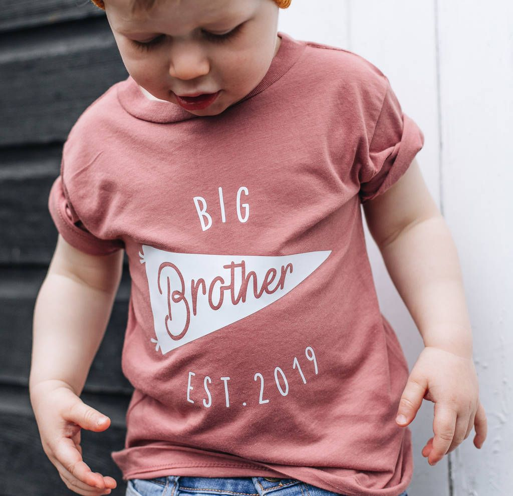 Personalised Big Brother New Baby Sibling T Shirt In