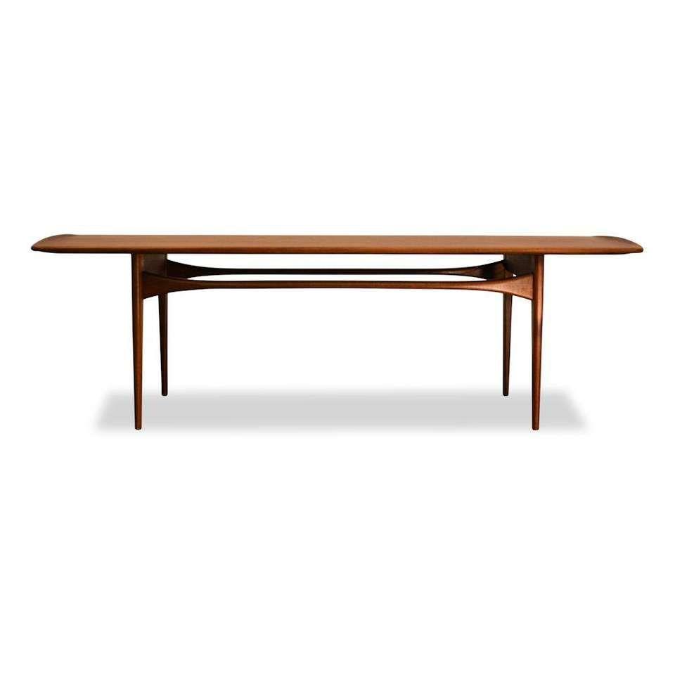 For Sale On 1stdibs Vintage Danish Design Teak Coffee Table Designed By Danish Designer Couple Tove Edvard Knidt Larsen For F Coffee Table Teak Coffee Table