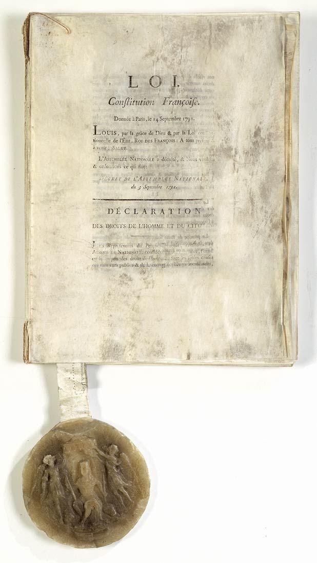 Citaten Geschiedenis : Constitution de décret l assemblée nationale