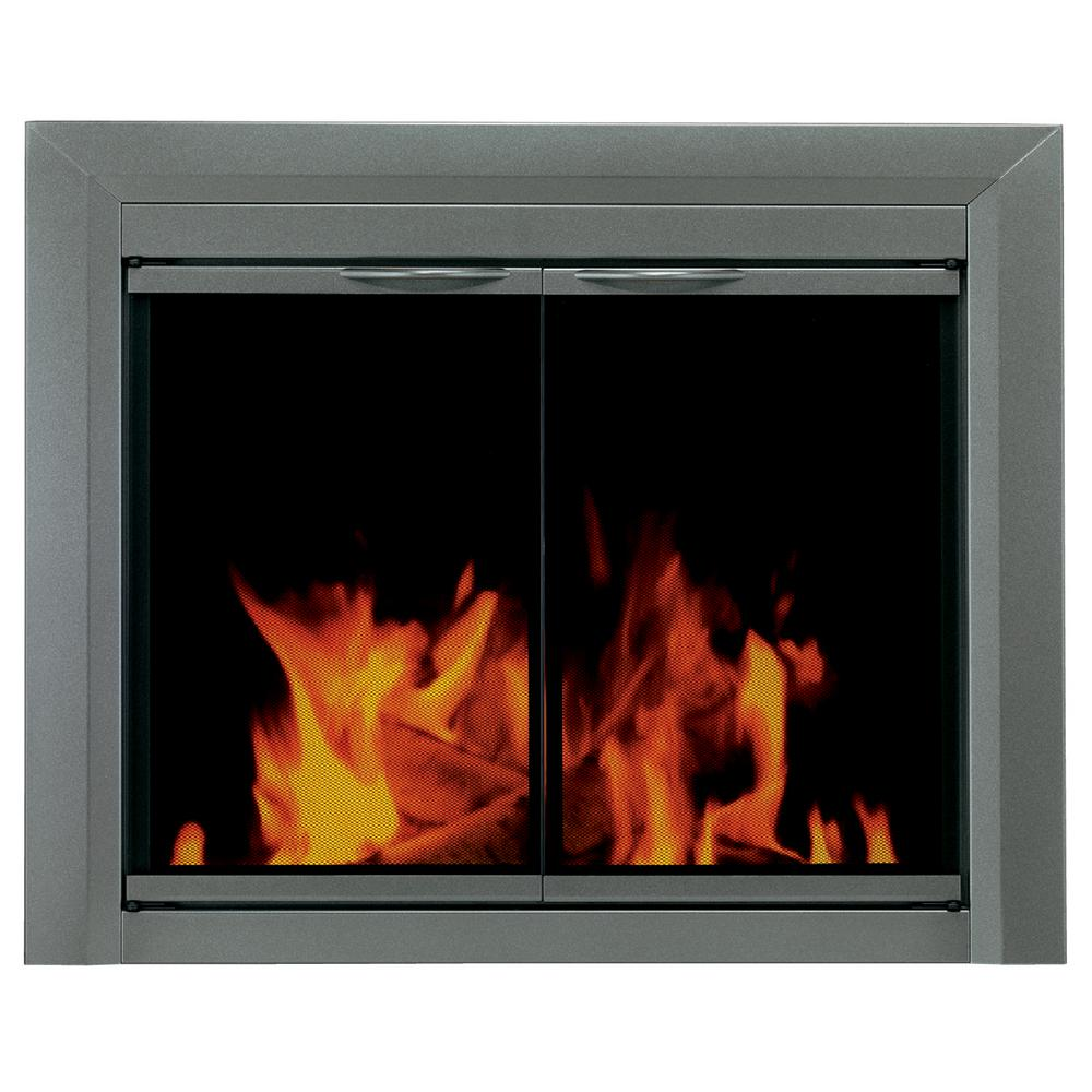 Pleasant Hearth Craton Large Glass Fireplace Doors Cr 3402 The