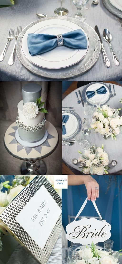 Silver Blue Color Scheme Inspiration For A Winter Wedding