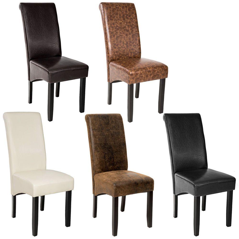 Dettagli su Design Sedia per sala cucina da pranzo nero sedie 105cm ...