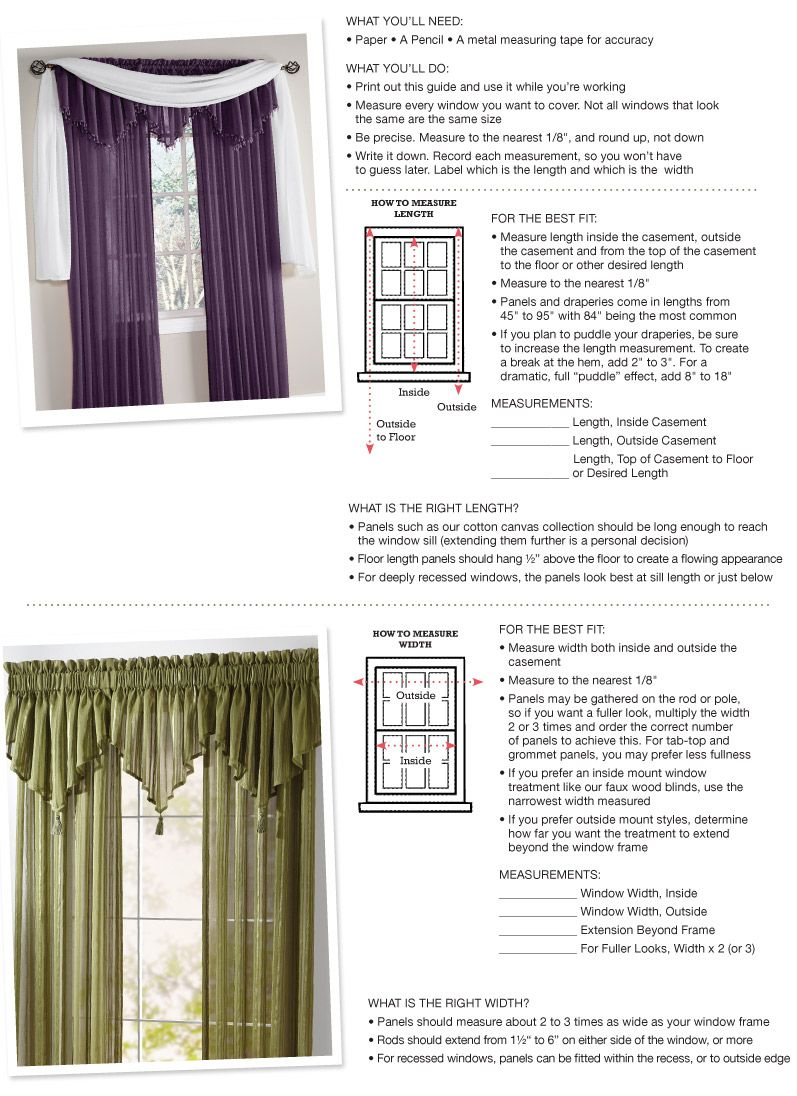 Shop For Window Measuring Guide In Our Guides Section Curtain
