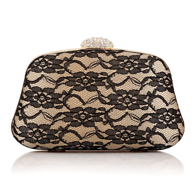 Woman Evening Bag Women Diamond Rhinestone Clutch Crystal Day Clutch Wallet Wedding Purse Party Banquet Black Gold Silver Prom Bag Prom Clutch Rhinestone Clutch