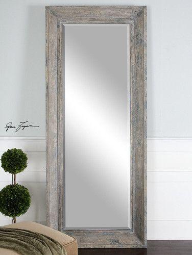 Large Distressed Slate Blue Wood Wall Floor Leaner Mirror Xl 82 635 Free Shipping Eb Bolshie Napolnye Zerkala Zerkala V Derevenskom Stile Derevyannoe Zerkalo