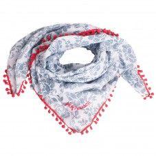 Red White Blue Alprausch Scarf Halstuch Damen Und Hals