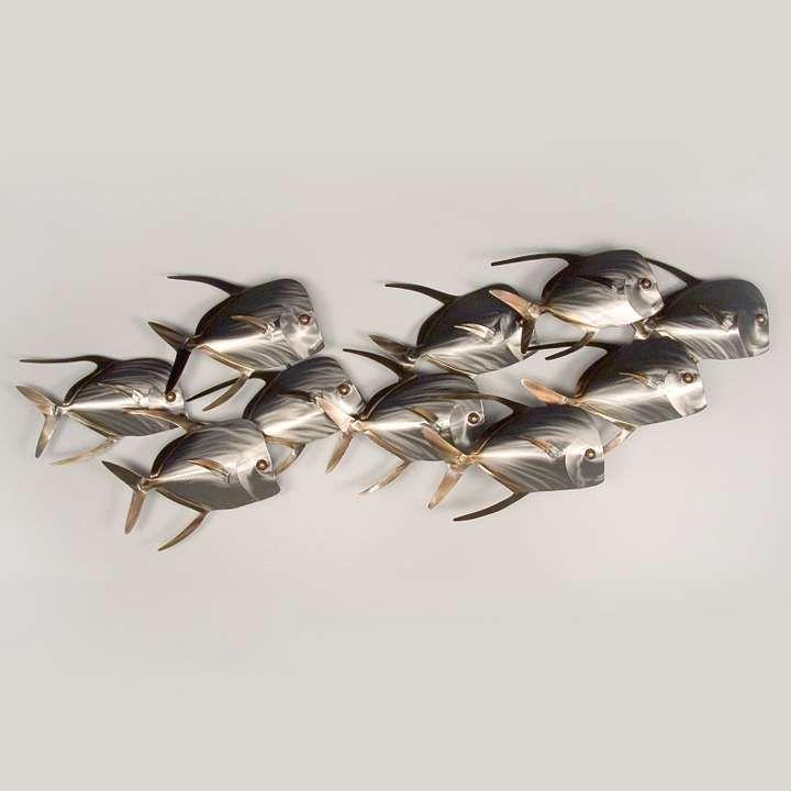 Metal wall art fish decor