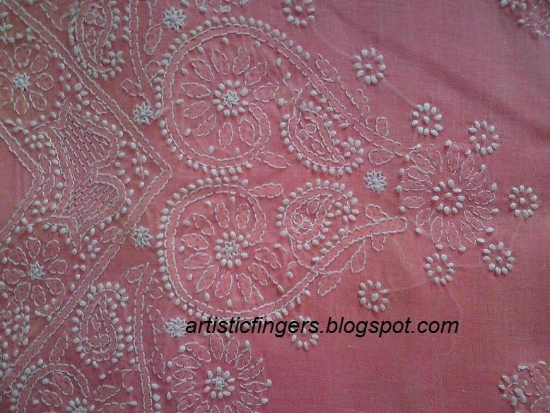 Artisticfingers Chikankari Or Chikan Embroidery And A Stitchalong