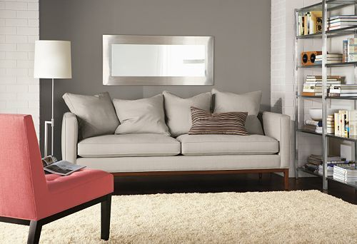 Gray Accent Wall Simple Living Room Decor Modern Bedroom