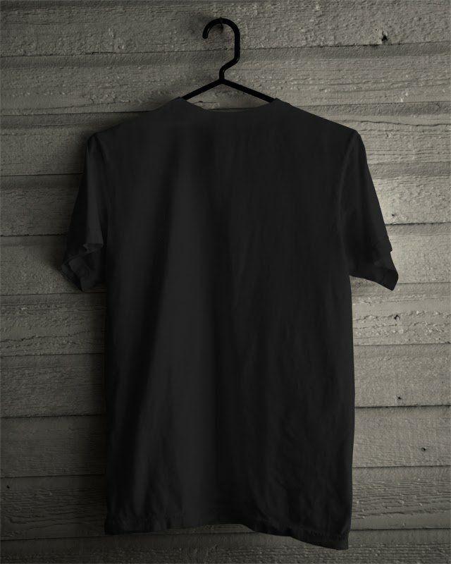 Jual Kaos Polos Pria Warna Hitam Lapak Bukalapak Terjual Gambar Hitam Desain Kaos