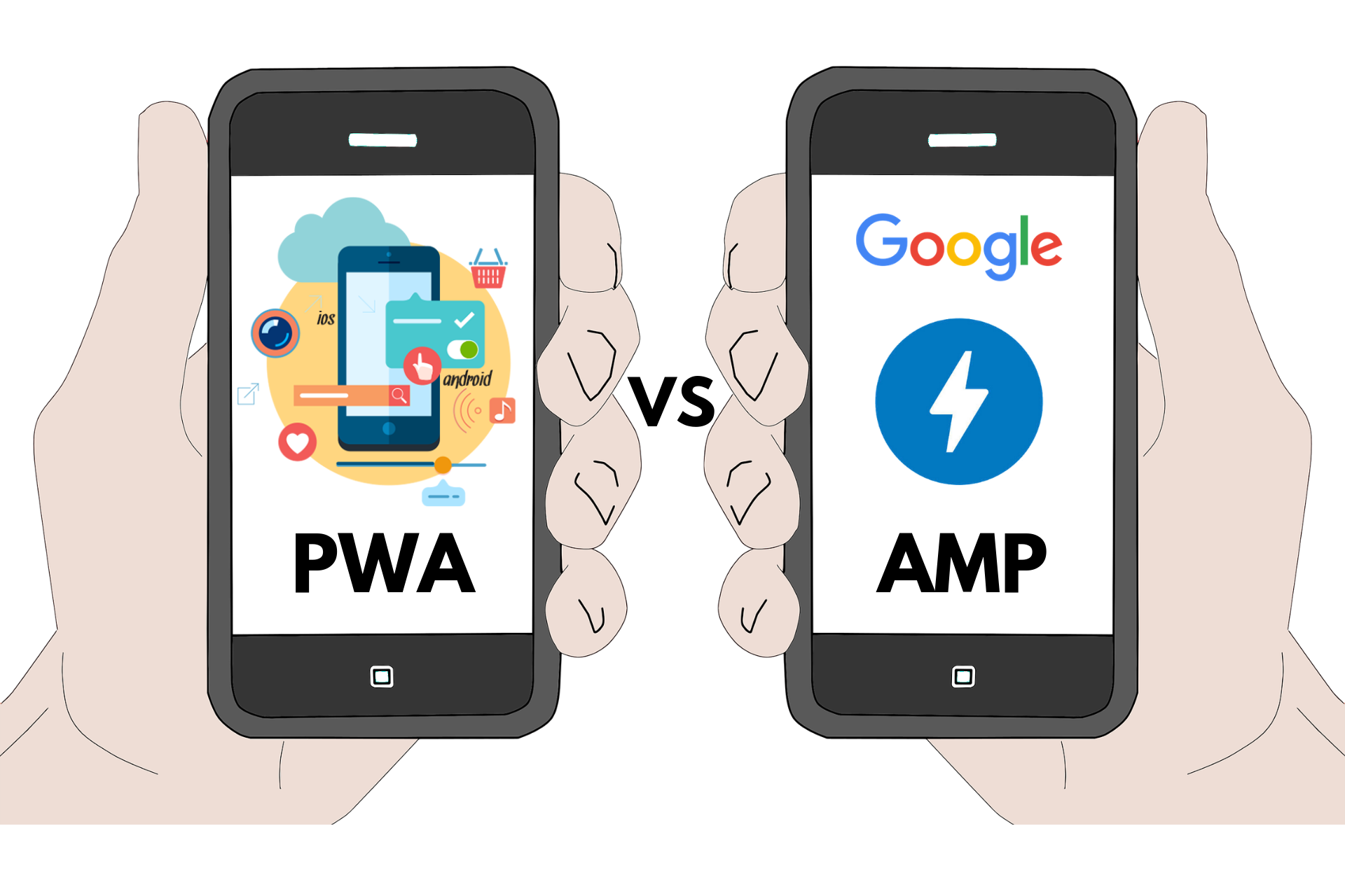 PWA and AMP are two different technologies having the same