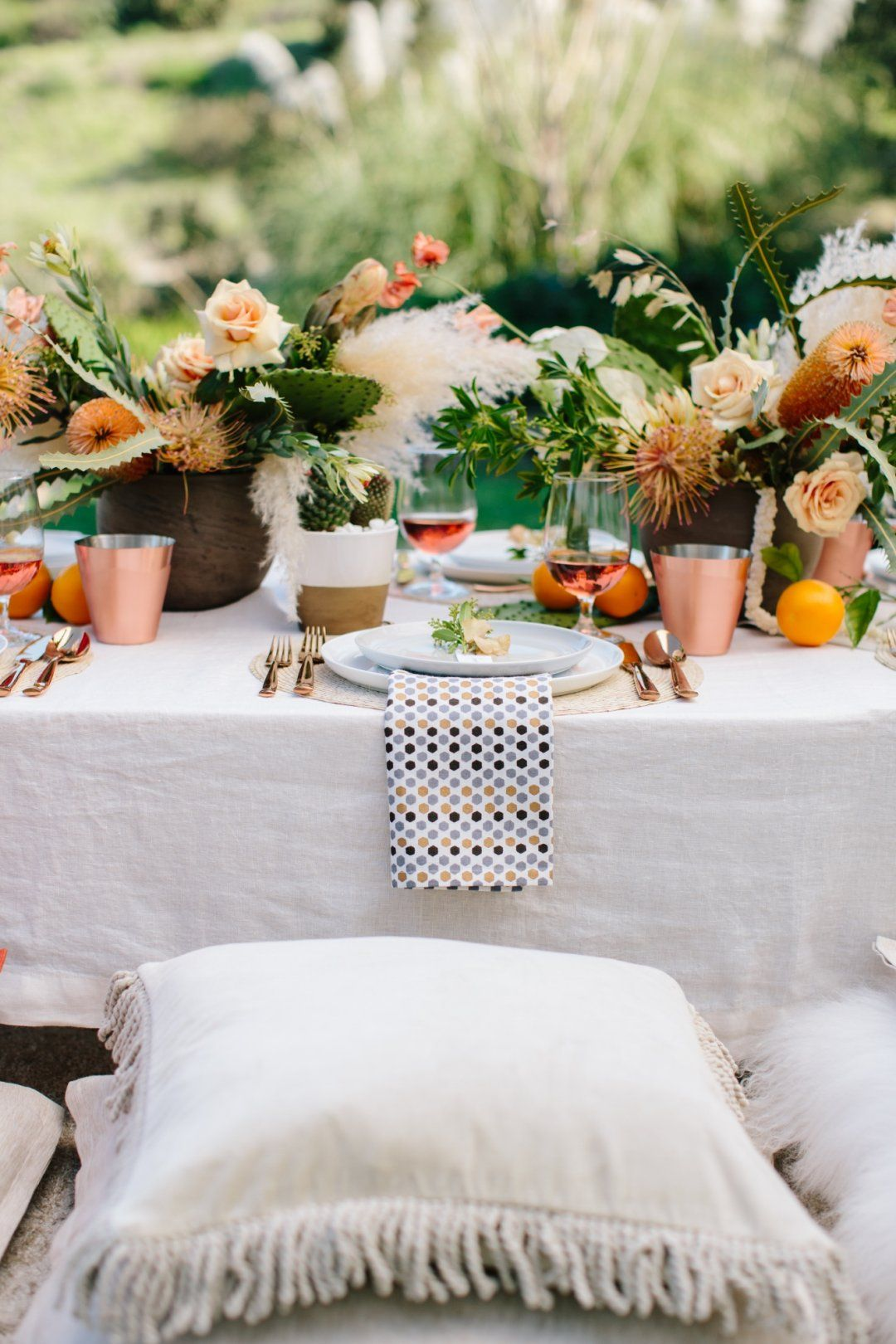 How to Host a Summer Party | Table setting inspiration, Autumn ...