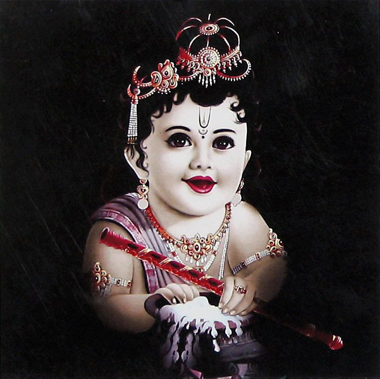 Krishna With Butter Baby Krishna Krishna Wallpaper Cute Krishna