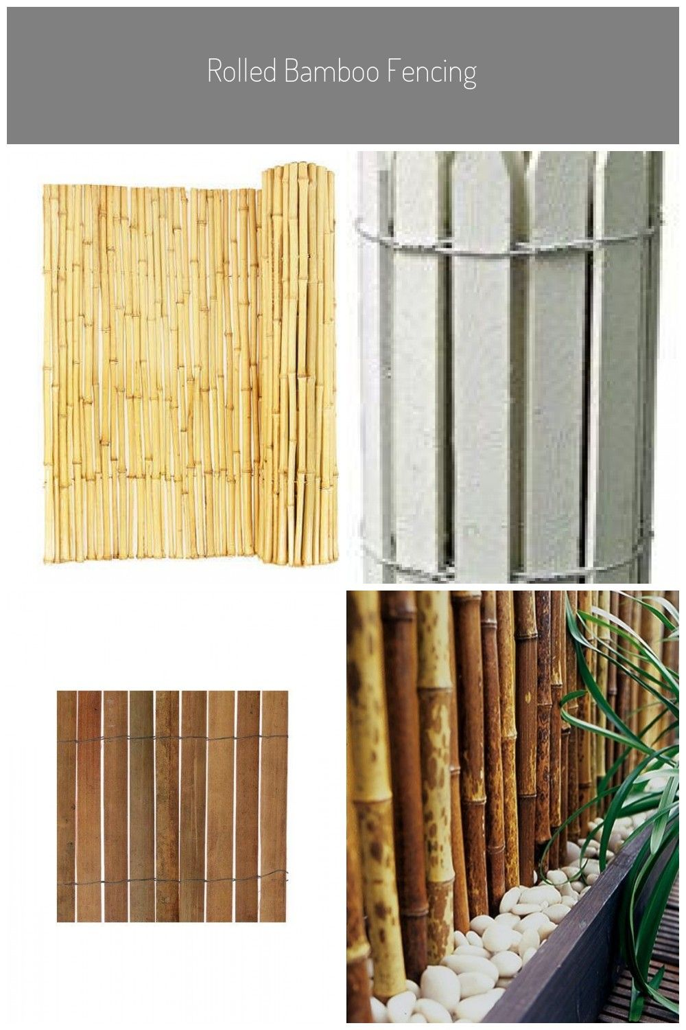 Backyard X-Scapes Natural Rolled Bamboo Panel Fence # ...