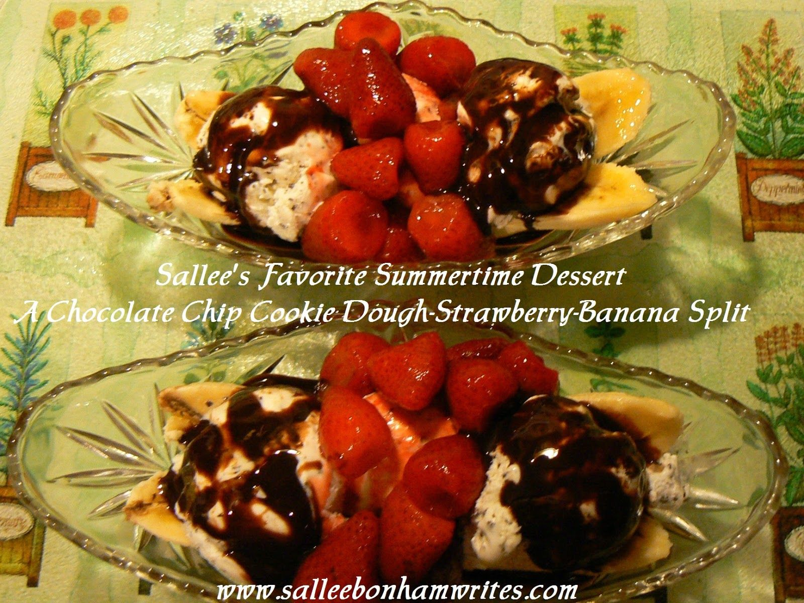 A Chocolate Chip Cookie Dough-Strawberry-Banana Split | Bonham Business