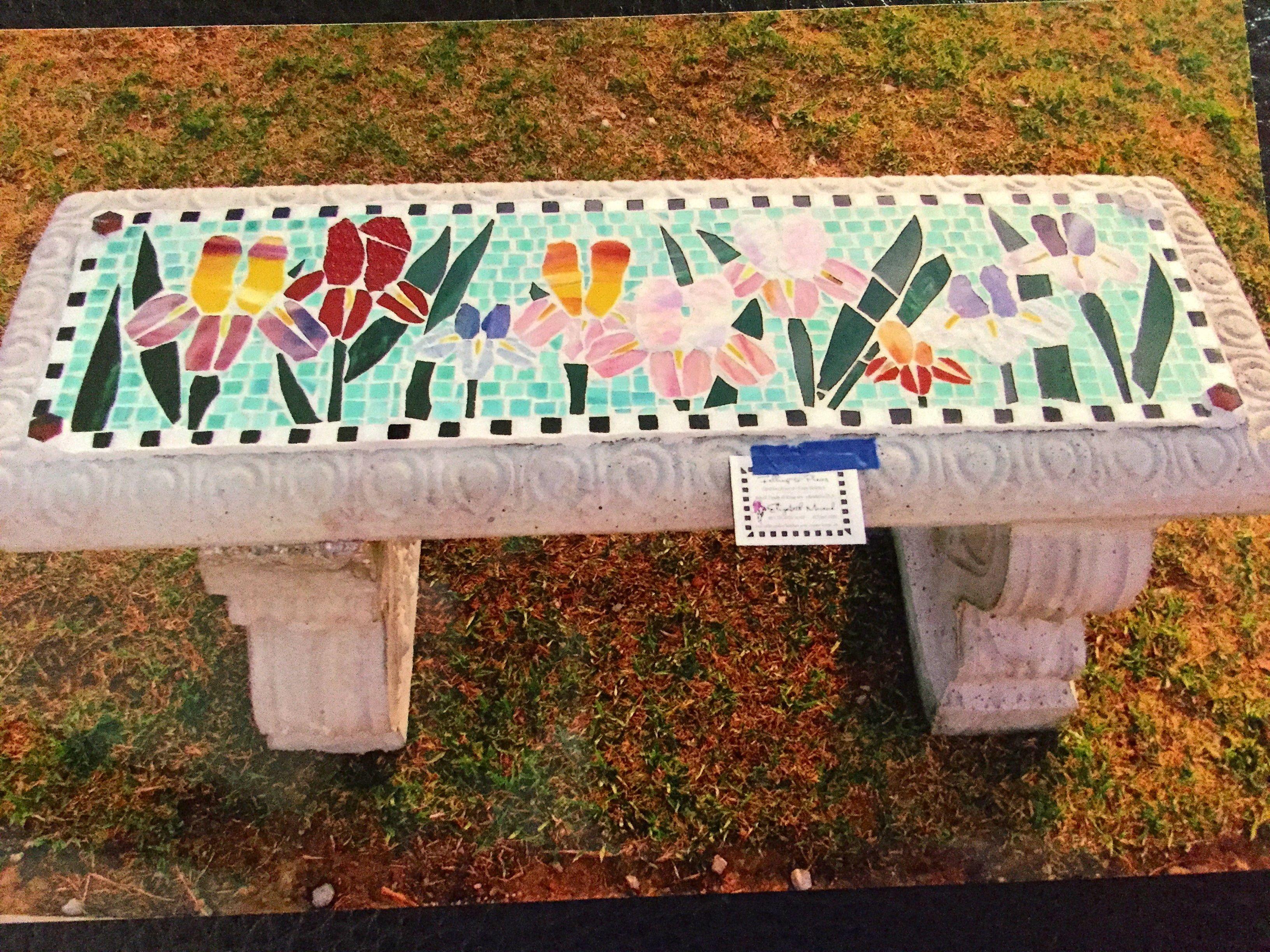Mosaic Bench Mosaic Stained Glass Mosaic Mosaic Garden