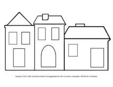 Fensterbild Transparentpapier Häuser 7pdf Weihnachten Pinterest