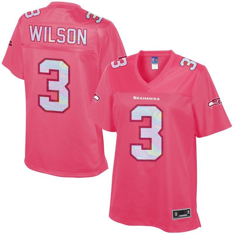 Russell Wilson Seattle Seahawks NFL Pro Line Women s Fashion Jersey - Pink 377b038f4