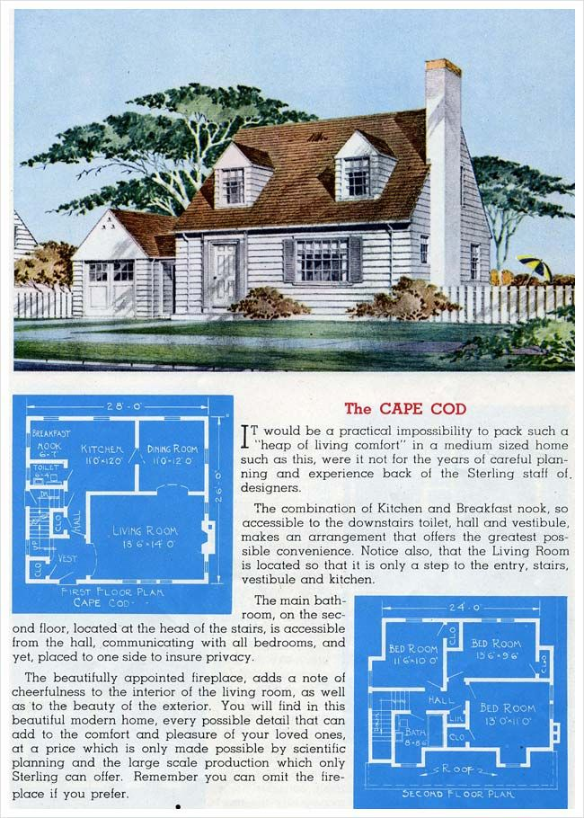 1945 Sterling Homes The Cape Cod