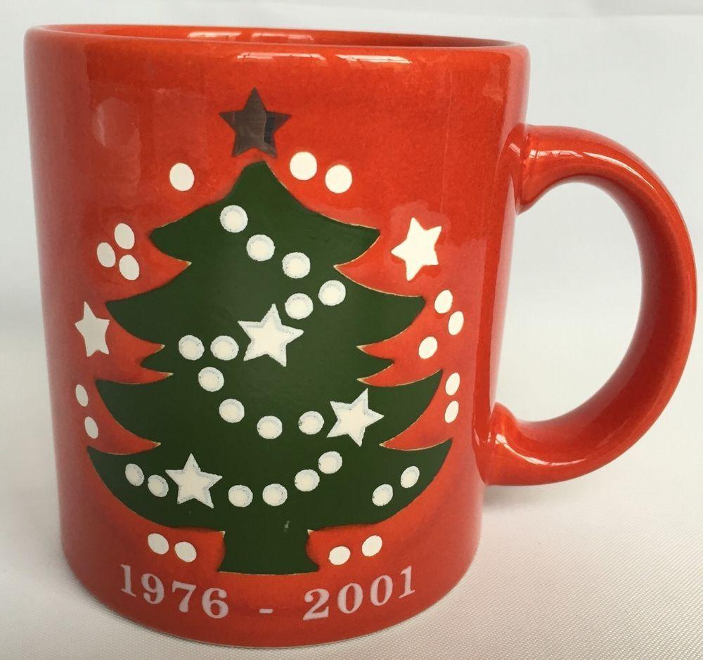 Waechtersbach Christmas Tree Coffee Mug Red 25th Anniversary Edition 1976-2001 & Waechtersbach Christmas Tree Coffee Mug Red 25th Anniversary Edition ...