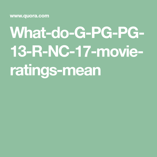 What does g rating mean