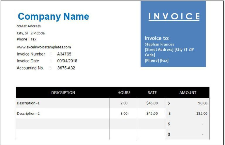 Ms Excel Consignment Invoice Template Excel Invoice Templates Invoice Template Printable Invoice Invoicing