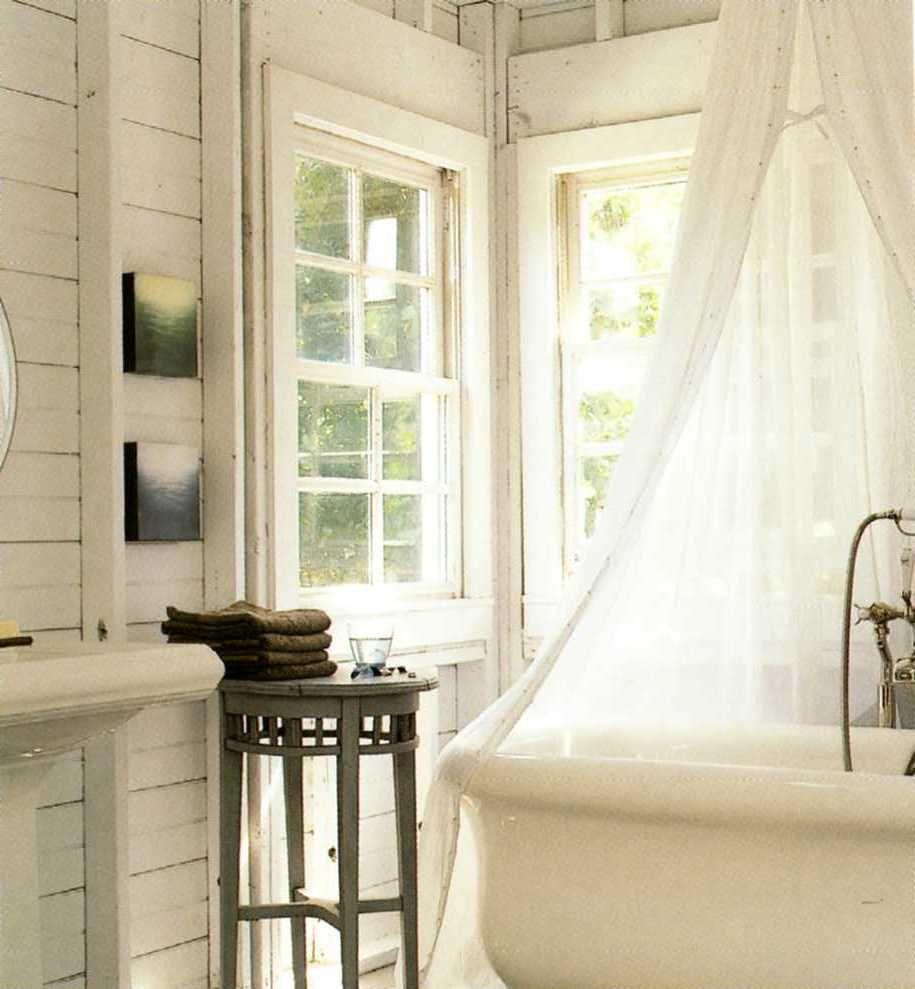 Bathroom, : Gorgeous Rural Clawfoot Tub Bathroom Ideas With Height ...