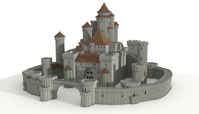 Castle unfurnished creation 5599 Medieval Minecraft