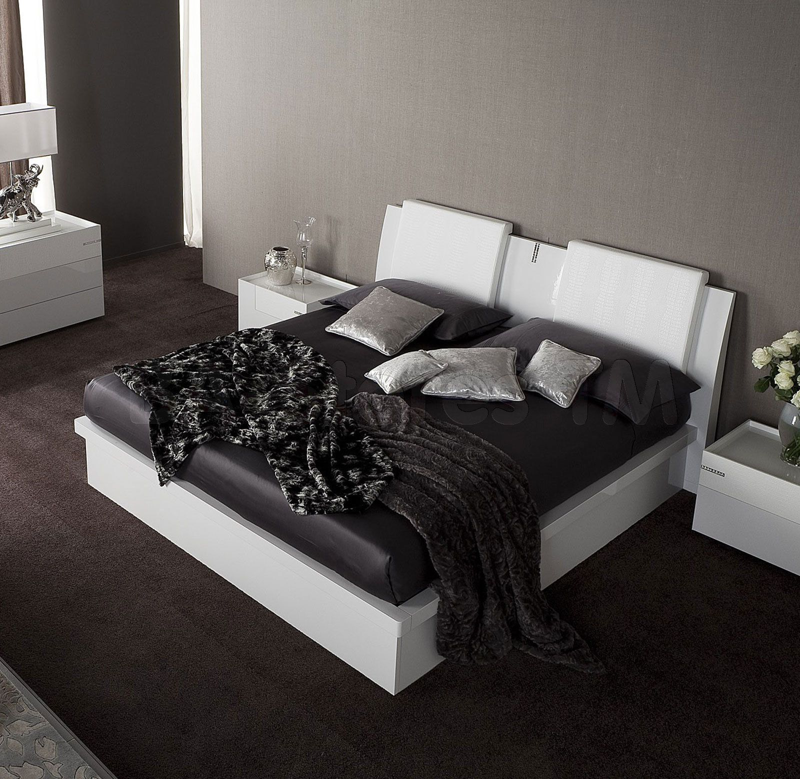 rossetto usa diamond platform bed in white by rosetto  beds by  - rossetto usa diamond platform bed in white by rosetto