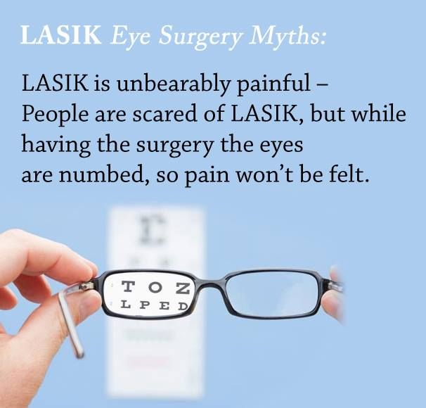 #LASIK Eye Surgery #Myth: LASIK is unbearably painful – People are scared of LASIK, but while having the surgery the eyes are numbed, so pain won't be felt. Get an appointment for LASIK Consultation today.  www.jpeyehospital.com #LASIK #EYE #Surgery #MYTH #chandigarh #Mohali