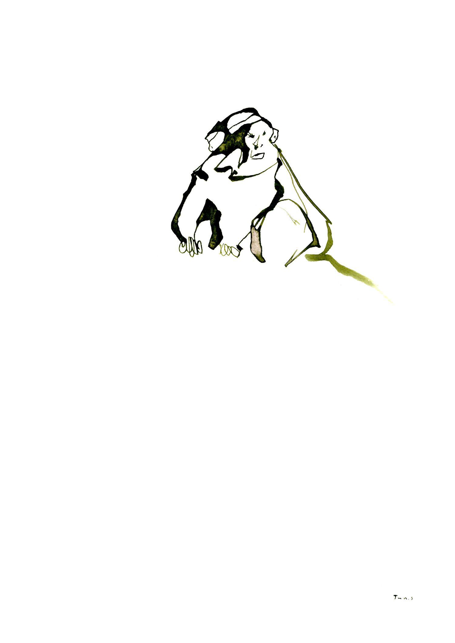 monkey 「golden monkey:rwanda」 pen,ink #イラスト #サル #アート