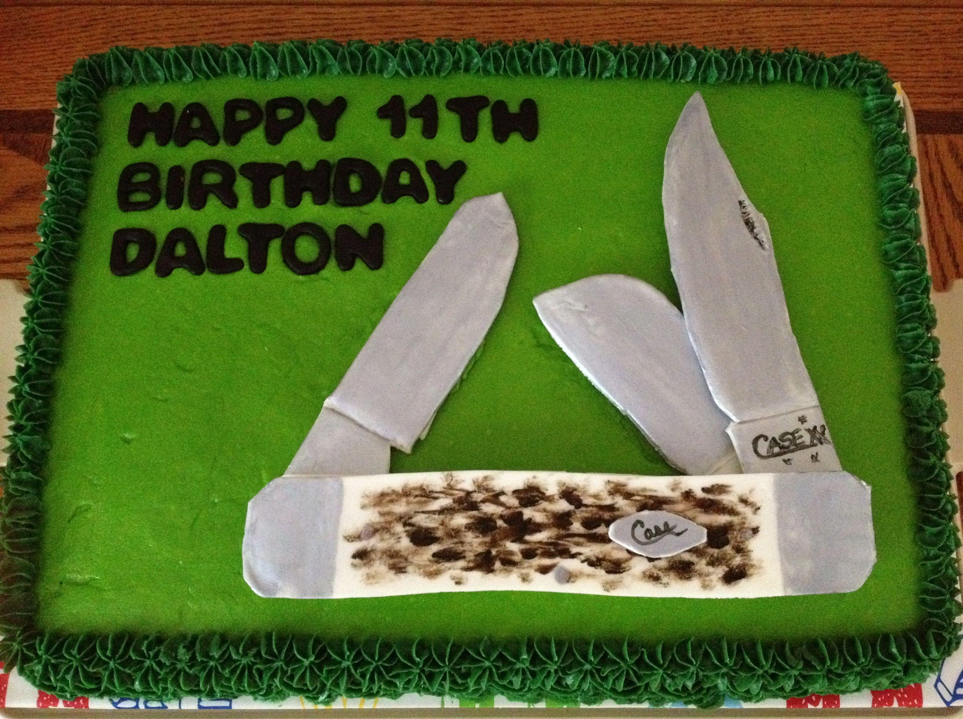 Case knife cake by graduation cakes case