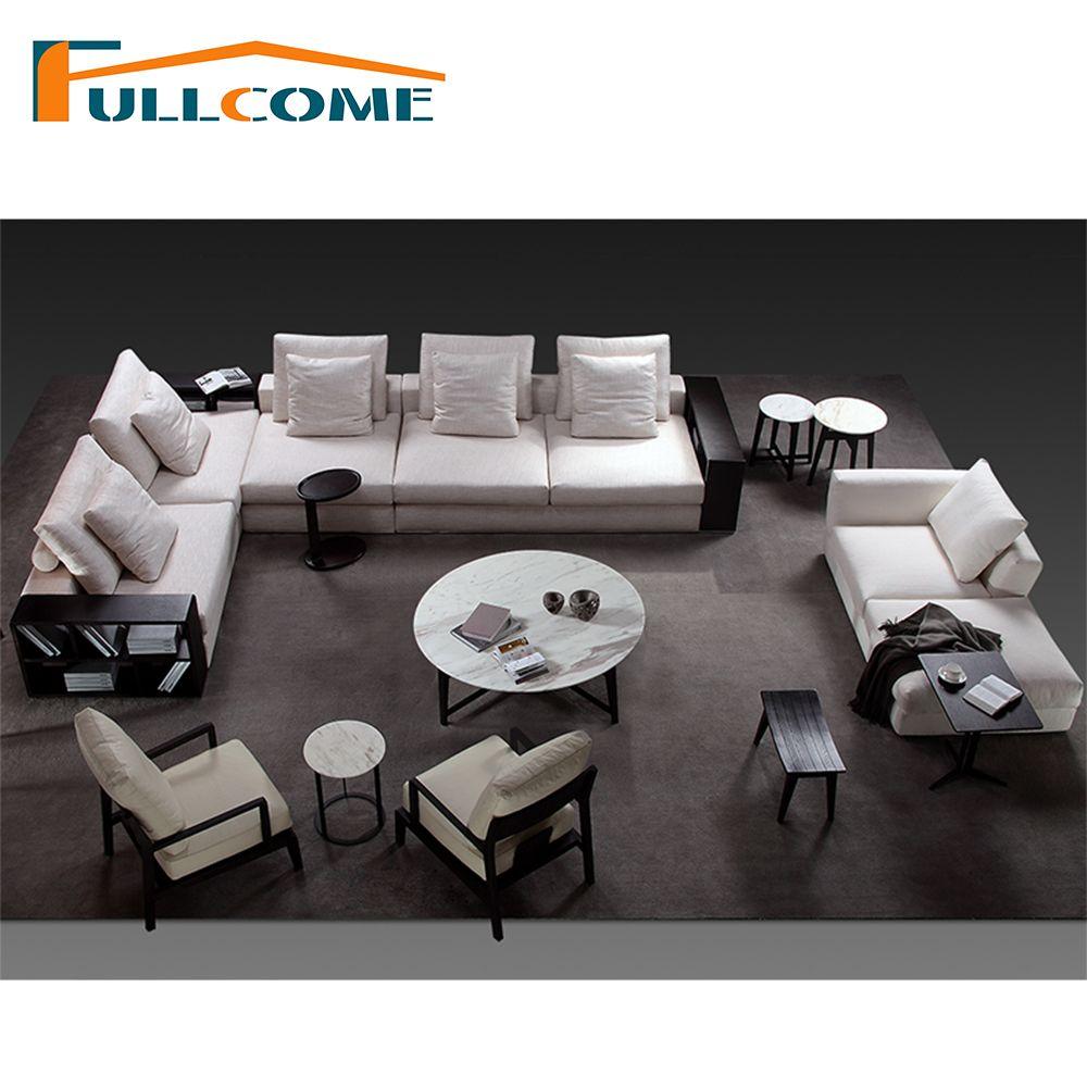 China luxury home furniture modern fabric scandinavian sofa set living room furniture feather italian corner sectional sofas