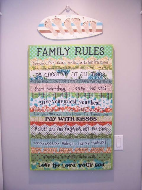 family rules linky party!!!