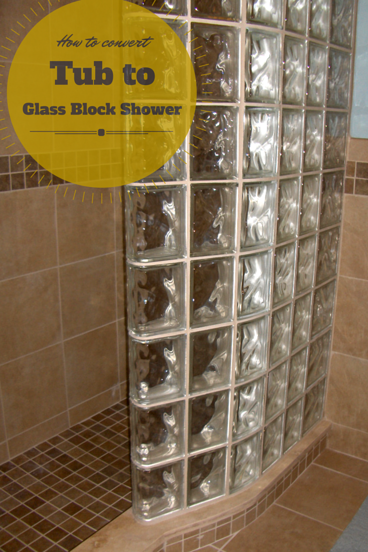 ... A Bathtub Into A Glass Block Walk In Curved Shower  Http://blog.innovatebuildingsolutions.com/2015/04/25/5 Steps Convert Tub  Glass Block Walk Shower/